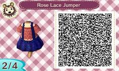 Rose colored lace top and a jumper with a ruffled skirt! Perfect for the late summer :D There's even lace on the little pockets! By Bramble