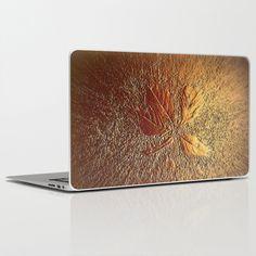 Rust glitter leaves in fall Laptop & iPad Skin by ankka - $30.00