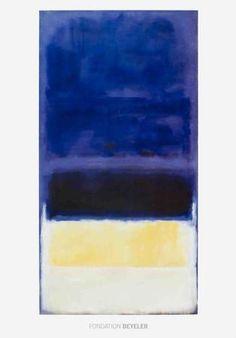 Rothko Dark Blue, yellow, black, white