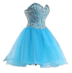 Bright blue under $100 dollars strapless sweetheart corset formal prom homecoming dress
