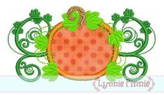 Embroidery Designs - Pumpkin Flourish Applique 4x4 5x7 6x10 SVG - Welcome to Lynnie Pinnie.com! Instant download and free applique machine embroidery designs in PES, HUS, JEF, DST, EXP, VIP, XXX AND ART formats.