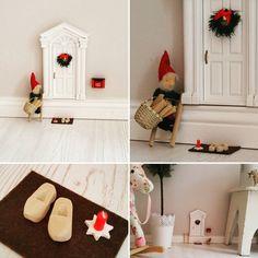 Kinderzimmerdekoration - Wichteltür Elfentür Fairydoor Mäusetür Weihnachten - ein Designerstück von AtelierKleeblatt bei DaWanda
