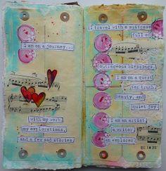 I am on a Journey - art journal page by nikimaki