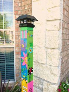 Most Creative Garden Poles Ideas To Increase Your Garden Beauty - Gartenkunst Madison Square Garden, Home Design, Design Ideas, Peace Pole, Mosaic Garden Art, Garden Poles, Pole Art, Magic Garden, Olive Garden