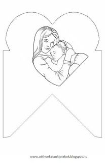 Otthon készült játékok Mothers Day May, Mothers Day Crafts For Kids, Paper Gifts, Diy Paper, Coloring For Kids, Coloring Pages, Family Theme, Little Boxes, Flower Frame