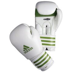 Adidas Lady Boxing Glove (ADIBL04/A - 10oz White and Green) No description www.comparestorep... Adidas Superstar Outfit, Adidas Outfit, Adidas Shoes, Mma Equipment, Sports Equipment, Martial Arts Clothing, Fight Wear, Discount Adidas, Thigh Exercises