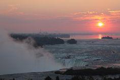 Sunrise at Niagara Falls, Sept. 30, 2014