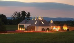 Boxwood Winery at dusk. Middleburg, VA, Fauquier County