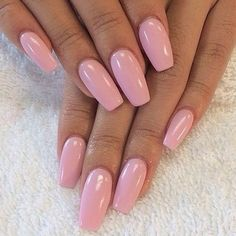 coffin shaped acrylic nails tucson | pink coffin nails