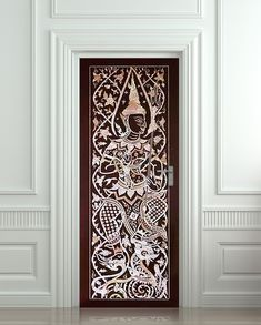 """Wall Door STICKER India man tradition national decole poster 30x79""""(77x200cm) /"""