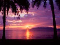 Blue Sunset mural