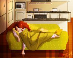 Eve couche sur le couche by Vanilla-Fireflies.deviantart.com on @deviantART