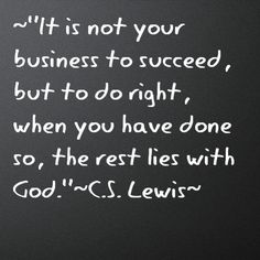 C.S. Lewis...