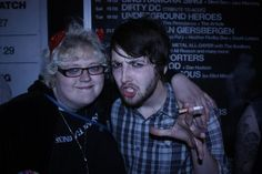 Me and Dom (TheFALLEN - now named The Family Ruin)  in York on my 26th birthday