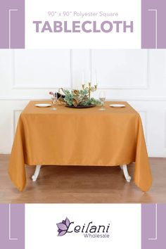 "This 90"" x 90"" tablecloths would give you a 28"" drop on 34"" x 34"" standard 30"" high square tables. Perfect for weddings, catering or any events! #tablecloths #tablelinens"