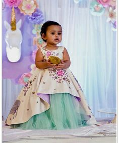 Little Girl Dresses, Girls Dresses, Flower Girl Dresses, Kids Lehenga, Baby Lehenga, Kids Ethnic Wear, Kids Frocks Design, Kids Gown, Frocks For Girls