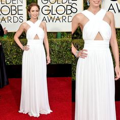 White-Cross-Body-Chiffon-Emily-Blunt-Golden-Globe-Awards-2015-celebrity-dress.jpg (750×750)