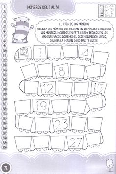 Numbers tracing worksheets 1 for kindergarten - Printable Coloring Pages For Kids Kindergarten Math Worksheets, Tracing Worksheets, Worksheets For Kids, Winter Activities For Kids, Math For Kids, Hands On Activities, Luther, Math Writing, Kids Cuts
