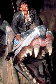 Harrison Ford as Indiana Jones in Raiders of the Lost Ark Henry Jones Jr, Harrison Ford Indiana Jones, Indiana Jones Films, Harrison Ford Movies, Old Movies, Great Movies, Indie Movies, Indiana Jones Adventure, Celebrities