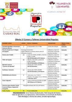 Villanueva de los Infantes - Oferta 1ª Cursos y Talleres Universidad Popular