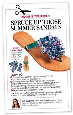 Sandals get a makeover