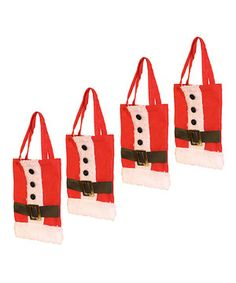 Don't forget to send guests home with some tasty swag after a holiday party! Stock up on this set of gift bags that are sweetly adorned with holiday-themed characters and will hold candy canes and gumdrops with ease.