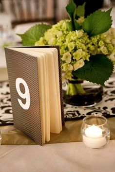 Each table to have, as table number and then used as guest book. Scrapbooked to coordinate withcolour theme