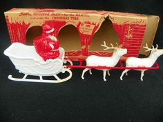 Vintage*Santa Reindeer Barn* Irwin Toys*Original Box & Figures   eBay