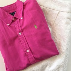 Ralph Lauren | Pink Button Down Blouse | Size: 4 Ralph Lauren | Bright Pink Button Down Blouse | Size:4 | True to Size | Great Condition | No wear or damages | 100% Cotton Ralph Lauren Tops Button Down Shirts