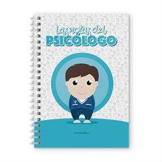 Cuaderno XL - Las notas del psicólogo, encuentra este producto en nuestra tienda online y personalízalo con un nombre. Notebook, Cover, Notebooks, Report Cards, Training, Store, Physical Therapist, The Notebook, Exercise Book