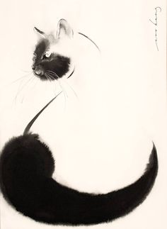 """""""Rear View"""" by Soo Beng Lim. Paintings for Sale. Creature Drawings, Animal Drawings, Watercolor Illustration, Watercolor Art, Ink Painting, Painting Abstract, Acrylic Paintings, Eye Art, Watercolor Animals"""