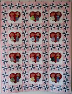 Sunbonnet Sue & Sam Valentine Sweethearts baby by codysquilts, $145.00