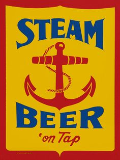 Steam Beer Poster Vintage Brewery Advertising by FoxgloveMedia