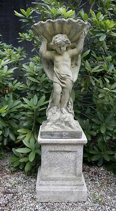 cherub fountain on an oxford pedestal