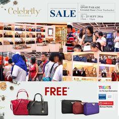 22-25 Sep 2016: Celebrity Wearhouz Branded Designer Handbag Sale
