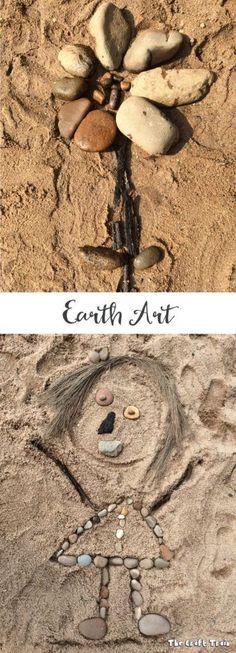 Create earth art with kids