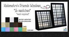 Kiolometro's Friends Windows at Loverat Sims4 • Sims 4 Updates
