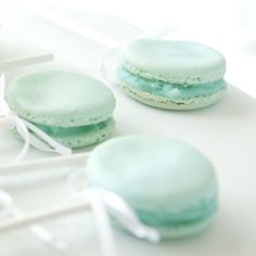 LOVE these macaron rattles! What an adorable treat for a baby shower!