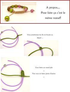 noeud coulissant bracelet