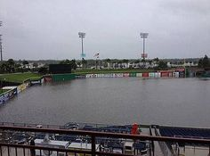 brighthouse field flooded in clearwater
