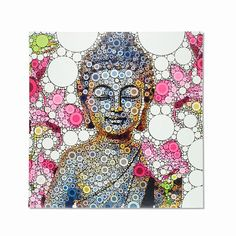 For those seeking ultimate bliss, this multi-colored Nirvana Buddha is a must-have. Ready to hang.