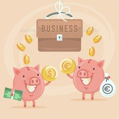 Business and Piggy Bank