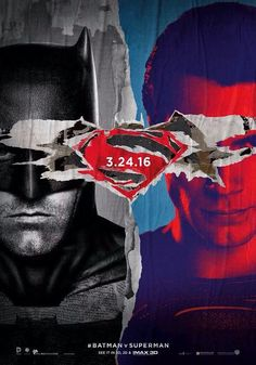 Batman V Superman Dawn of Justice first official poster