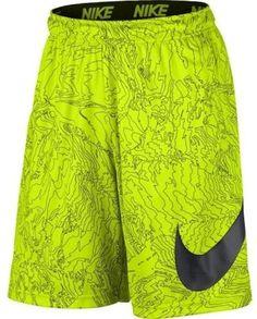 Nike Men's Dri-Fit 9' Fly Training Shorts-Neon Yellow-XL