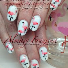 flamingo mani..M>Taylor: I love this!I want to have it done for my first ever manicure!!