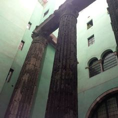 Roman remains in Barcelona, Spain