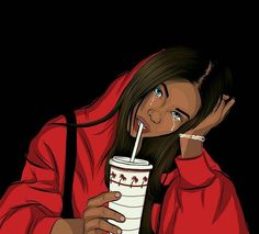 Black Girl Cartoon, Dope Cartoon Art, Cartoon Pics, Cartoon Drawings, Cute Drawings, Teenage Drawings, Arte Dope, Dope Art, Black Love Art