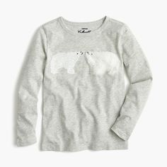 Grey still one of her favourite colours particularly paired with white or navy  Girls' kissing polar bears T-shirt