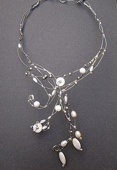 Pearl necklace elegant necklacedelicate necklace by MaryBulanova