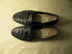 vintage black leather loafers by mellowrabbit on Etsy, $22.00